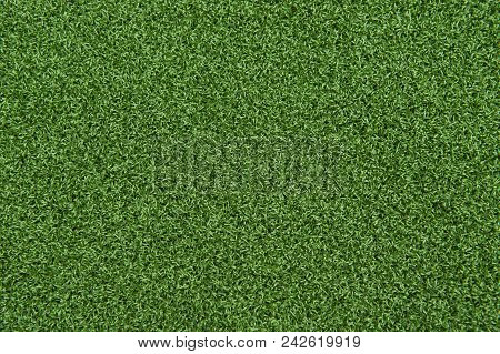 Background Texture Of Synthetic Grass Or Artificial Turf Used For Mini Golf And Putt Putt.