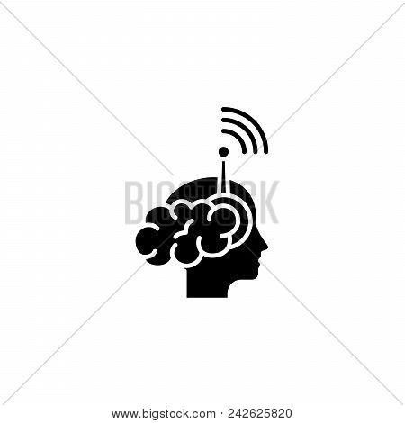 Individual Perception Black Icon Concept. Individual Perception Flat  Vector Website Sign, Symbol, I