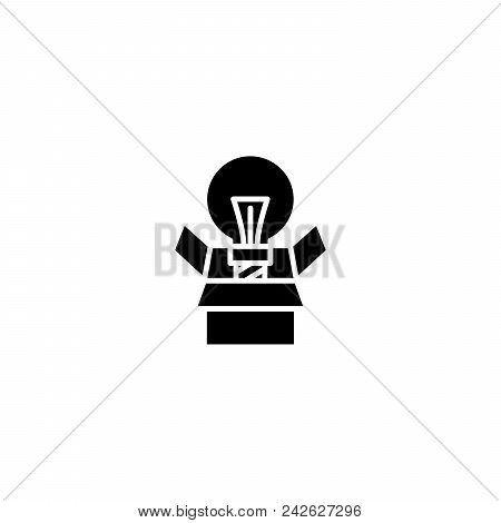 Innovative Project Black Icon Concept. Innovative Project Flat  Vector Website Sign, Symbol, Illustr