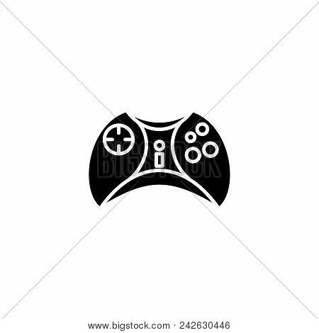 Joystick Black Icon Concept. Joystick Flat  Vector Website Sign, Symbol, Illustration.