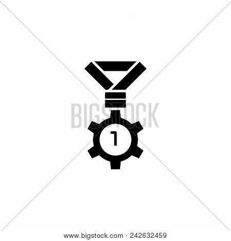 Leadership Black Icon Concept. Leadership Flat  Vector Website Sign, Symbol, Illustration.