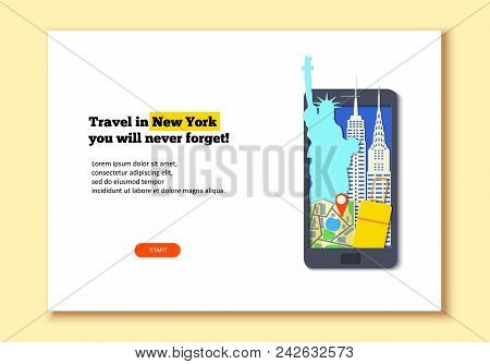 Mobile Phone Template In Paper Cut Style. Smartphone With Attraction. Black Craft Flat Phone With St