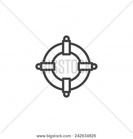 Lifebuoy Outline Icon. Linear Style Sign For Mobile Concept And Web Design. Life Preserver Simple Li