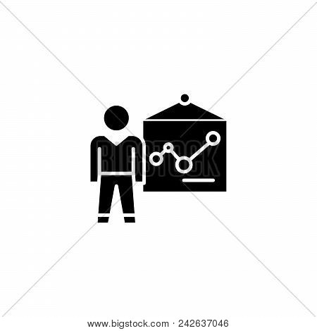 Medical Examination Black Icon Concept. Medical Examination Flat  Vector Website Sign, Symbol, Illus