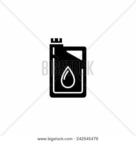 Motor Oil Black Icon Concept. Motor Oil Flat  Vector Website Sign, Symbol, Illustration.