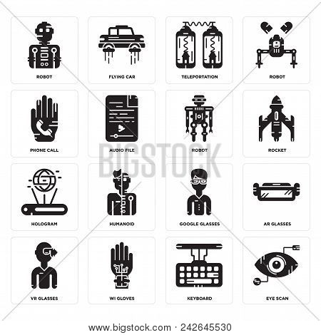 d05b74cb8fbba Set Of 16 Simple Editable Icons Such As Eye Scan