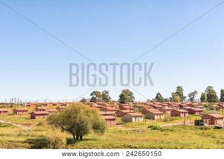 Franklin, South Africa - March 26, 2018: Houses In A Township In Franklin, A Small Village In The Kw
