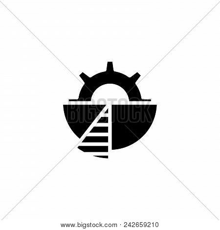 Pinion Black Icon Concept. Pinion Flat  Vector Website Sign, Symbol, Illustration.