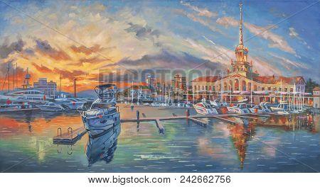 Artwork: Evening In The Seaport. Author: Nikolay Sivenkov.