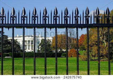 White House during autumn - Washington DC, United States