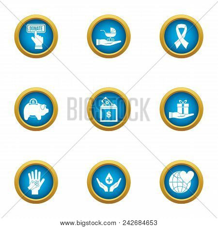 Frugal Icons Set. Flat Set Of 9 Frugal Vector Icons For Web Isolated On White Background