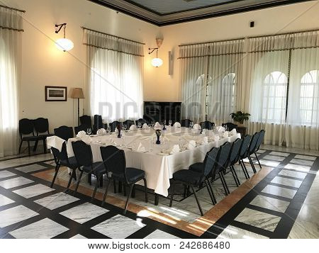 Jerusalem, May 9, 2018: The Pasha Room At The American Colony Hotel. The Historic Building Previousl