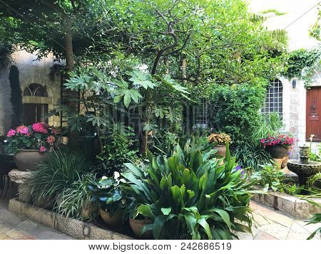 Jerusalem, May 9, 2018: American Colony Hotel Entrance. The Historic Building Previously Housed The