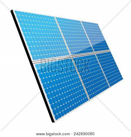 New Energy Concept Design.vector Drawn Solar Panel.
