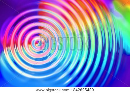 Vibrate, expand, grow, spread, or ripple abstract