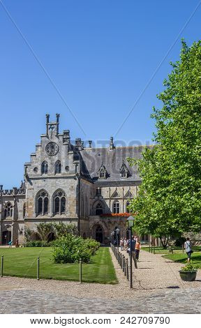 Bad Bentheim, Germany - July 19, 2016: Courtyard Of The Bentheim Castle In Germany