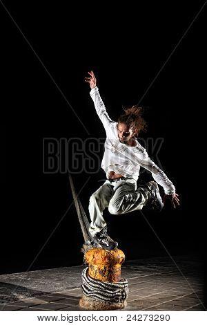 Inline Skater Doing Tricks