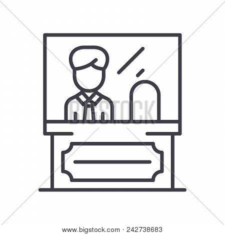 Administrative Personnel Black Icon Concept. Administrative Personnel Flat  Vector Website Sign, Sym