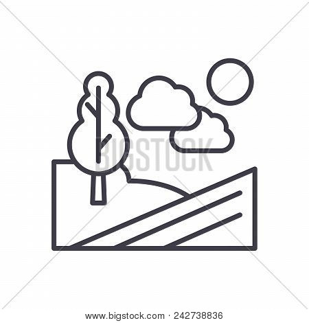 Agricultural Grounds Black Icon Concept. Agricultural Grounds Flat  Vector Website Sign, Symbol, Ill