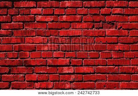 Red Brick Wall. Red Bricks. Grunge Brick Background. Red Brick Background.