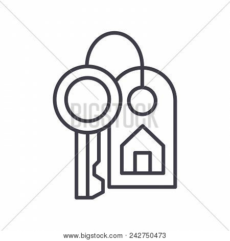 Purchase Of Real Estate Black Icon Concept. Purchase Of Real Estate Flat  Vector Website Sign, Symbo