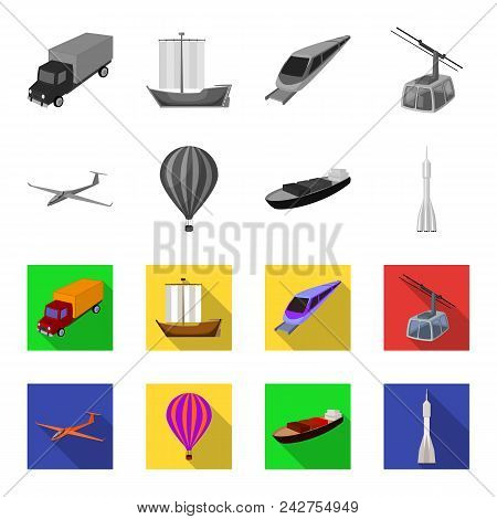 A Drone, A Glider, A Balloon, A Transportation Barge, A Space Rocket Transport Modes. Transport Set
