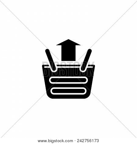 Sales Increase Black Icon Concept. Sales Increase Flat  Vector Website Sign, Symbol, Illustration.