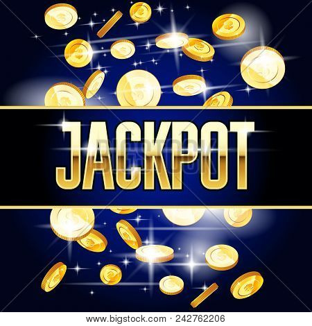 Jackpot Header And Coins - Casino And Win Background