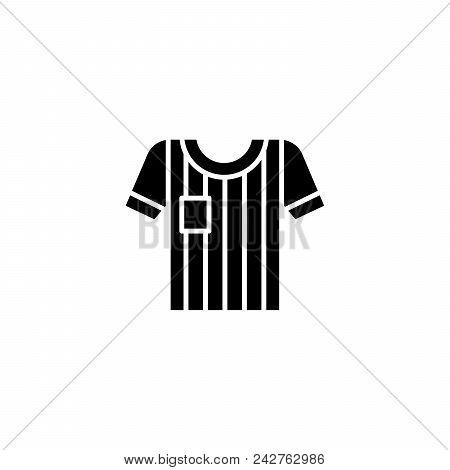 Soccer Jersey Black Icon Concept. Soccer Jersey Flat  Vector Website Sign, Symbol, Illustration.