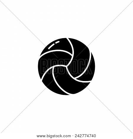 Volleyball Black Icon Concept. Volleyball Flat  Vector Website Sign, Symbol, Illustration.