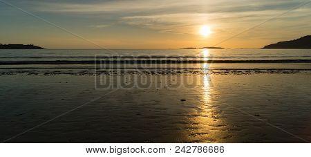 Sunset At Praia America, Nigran, Galicia (spain). Golden Hour, Peace, Calm...