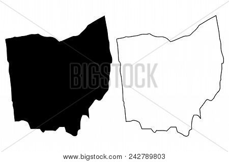 Ohio Map Vector Illustration, Scribble Sketch Ohio Map