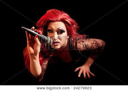 Drag-Queen. Man dressed as Woman.