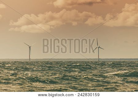 Vertical Axis Wind Turbines Generator Farm For Renewable Sustainable And Alternative Energy Producti