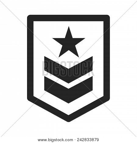 Military Rank Icon Simple Vector Sign And Modern Symbol. Military Rank Vector Icon Illustration, Edi