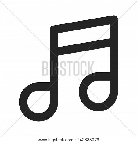 Music Note Icon Simple Vector Sign And Modern Symbol. Music Note Vector Icon Illustration, Editable