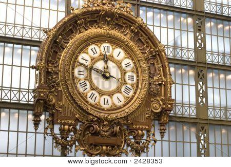Clock At The Orsay Museum, Paris, France