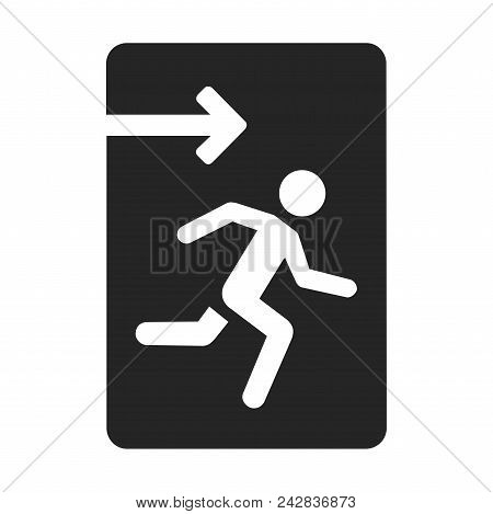 Emergency Exit Icon Simple Vector Sign And Modern Symbol. Emergency Exit Vector Icon Illustration, E