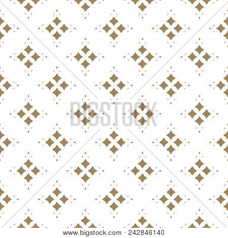 Vector Golden Ornamental Pattern In Asian Style. Abstract Geometric Seamless Texture With Floral Sha
