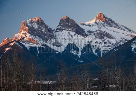 Early Spring Time In Canmore, Snowy Mountains, Winter Atmosphere, Icy Cold, Symbols Of Town Of Canmo