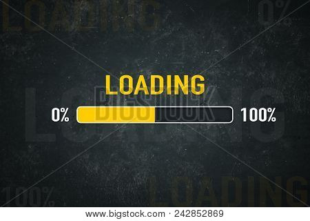 Loading Bar: 0% - 100% On A Vintage Background
