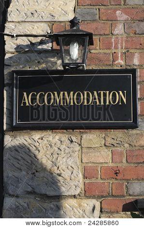 Accomodation Sign