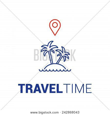 Trip Planning Service Icon. Cheap Flights. The Concept Of Travel. Vector Flat.