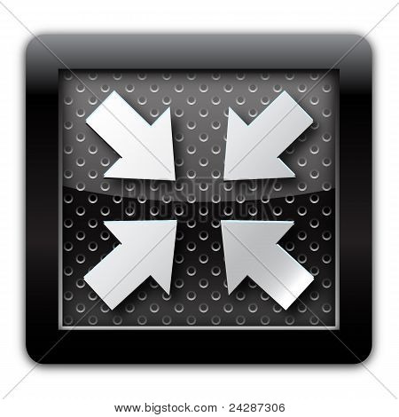 Reduced arrow metal icon
