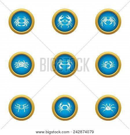 Arthropoda Icons Set. Flat Set Of 9 Arthropoda Vector Icons For Web Isolated On White Background