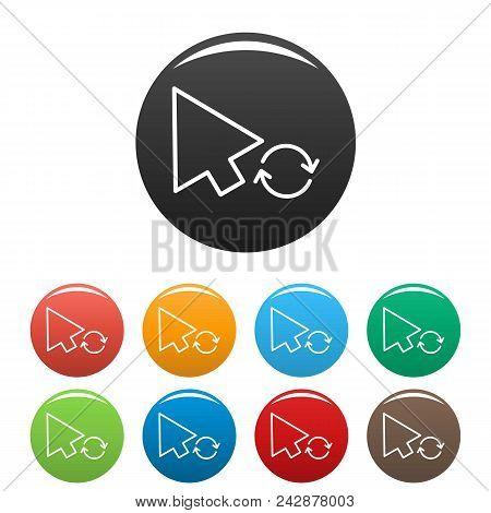 Arrow Cursor Loading Icon. Simple Illustration Of Arrow Cursor Loading Vector Icons Set Color Isolat