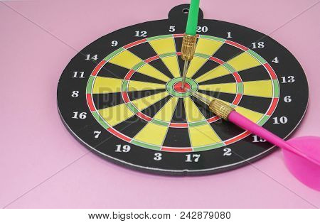 Business Concept Of Target Hit For Success