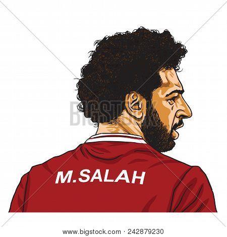 Mo Salah Vector Cartoon Caricature Illustration. May 30, 2018