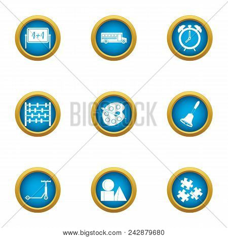 College Of Art Icons Set. Flat Set Of 9 College Of Art Vector Icons For Web Isolated On White Backgr