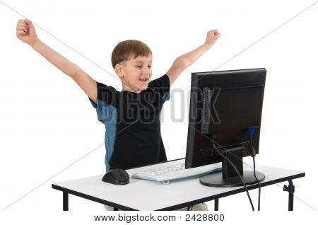 Boy On His Computer